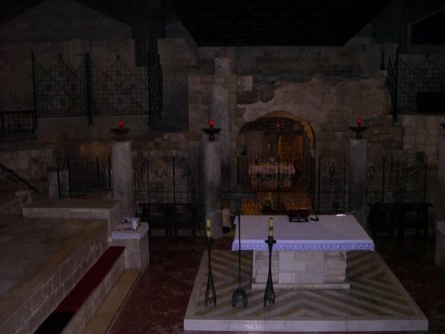 Eglise construite sur le lieu de la maison de Marie