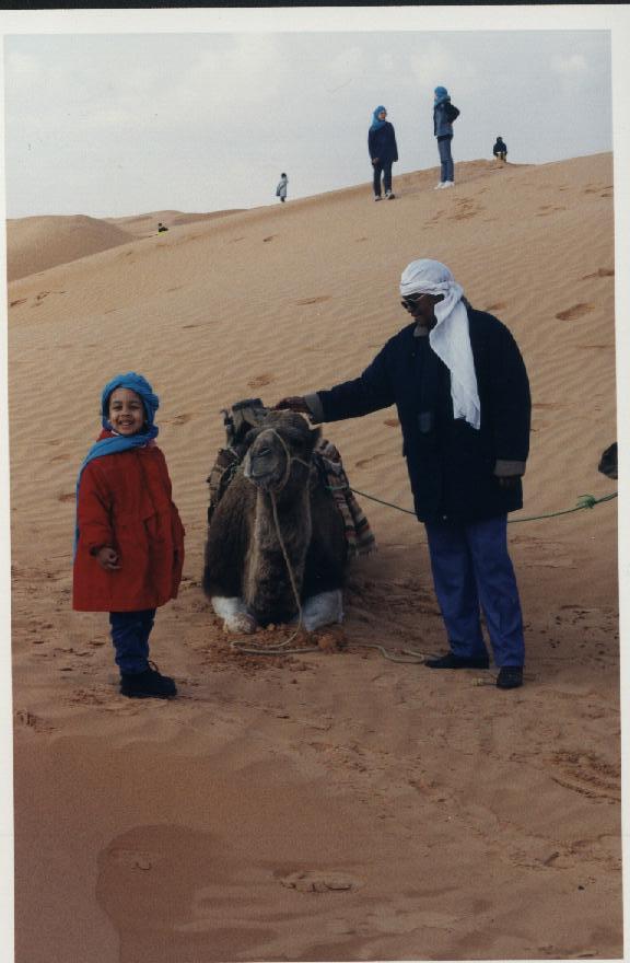 la Tunisie avec un chameau