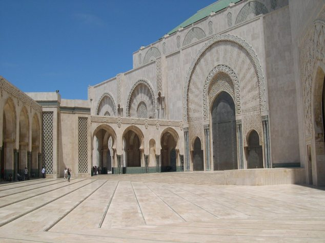 Casablanca la Mosquée la cour