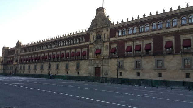 Mexico, Palais National sur la place de la Constitution (Zocalo)