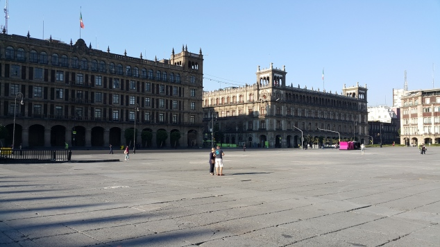 Mexico, place de la Constitution (Zocalo)
