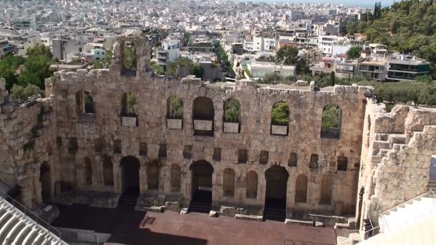 De l'acropole vue d'Athènes