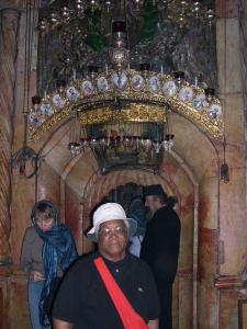 Entré du Tombeau du Christ à JERUSALEM