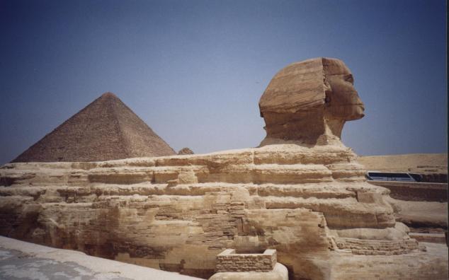 La pyramide de Khéphren et le Sphinx