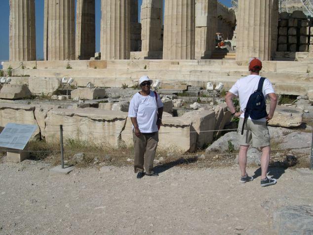 colonnes à peu près conservées