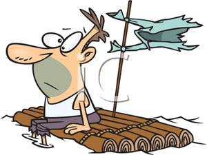 raft-clipart-A_stranded_man_on_a_wooden_raft_100923-152511-075060